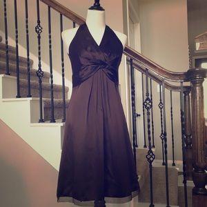 NWT ANN TAYLOR 100% Silk Chocolate Dress